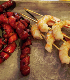 Hot dogs and Shrimp