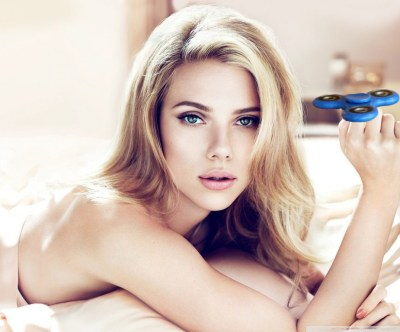 Scarlett Johansson with a Fidget Spinner