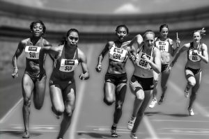 A race - because chasing other people's success doesn't help you write faster