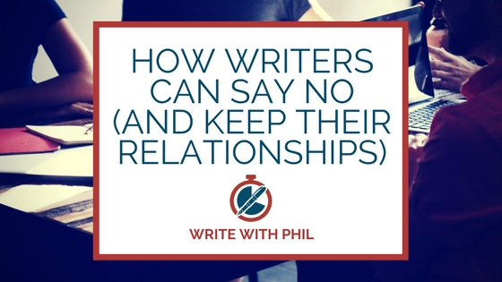 How writers can say no (and keep their relationships) banner