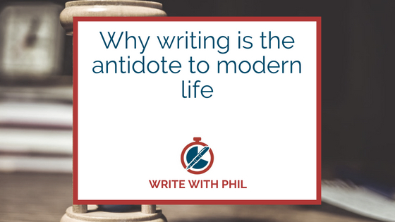 Why writing is the antidote to modern life header