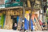 A chaque rue sa spécialité. Ici les bambous.