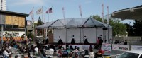 Performers at the Cherry Blossom Festival in Japantown