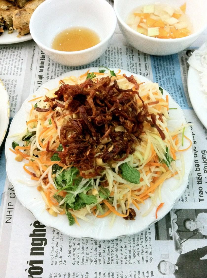 Papaya Salad with Dried Beef