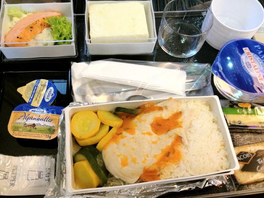 Squash, Zucchini, White Rice, and Chicken Breast