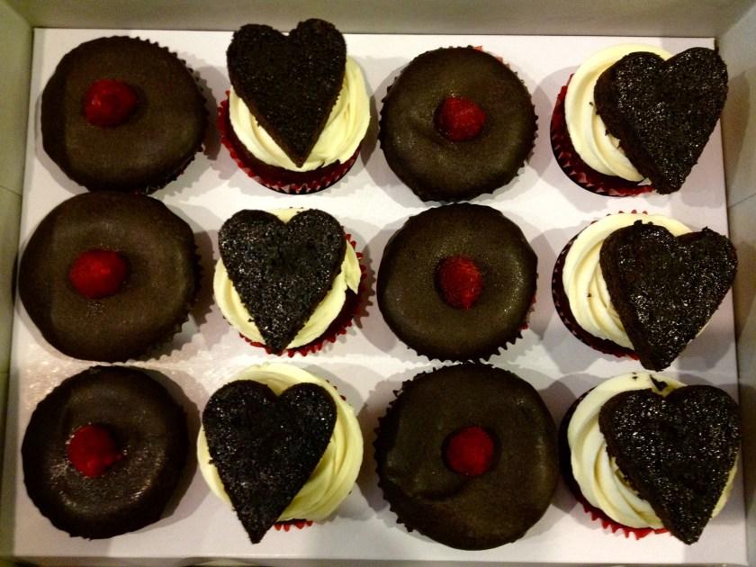 One Dozen Valentine's Day Cupcakes by Westlake Cupcake