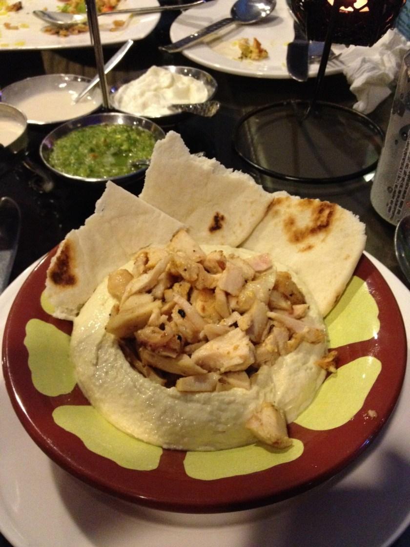 Chicken Shawarma, Hummus, Pita Bread