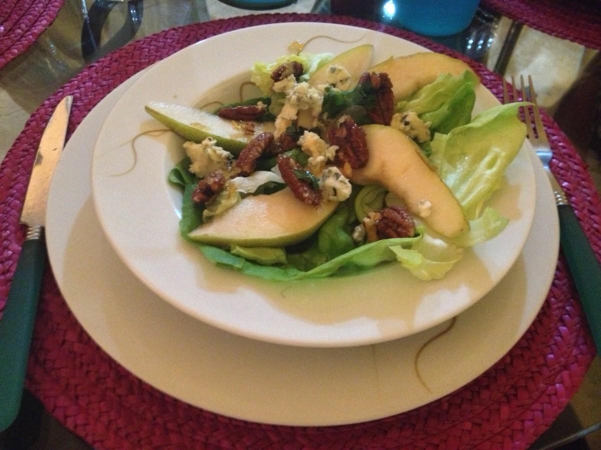 Pear and Pecan Salad, Mixed Paella