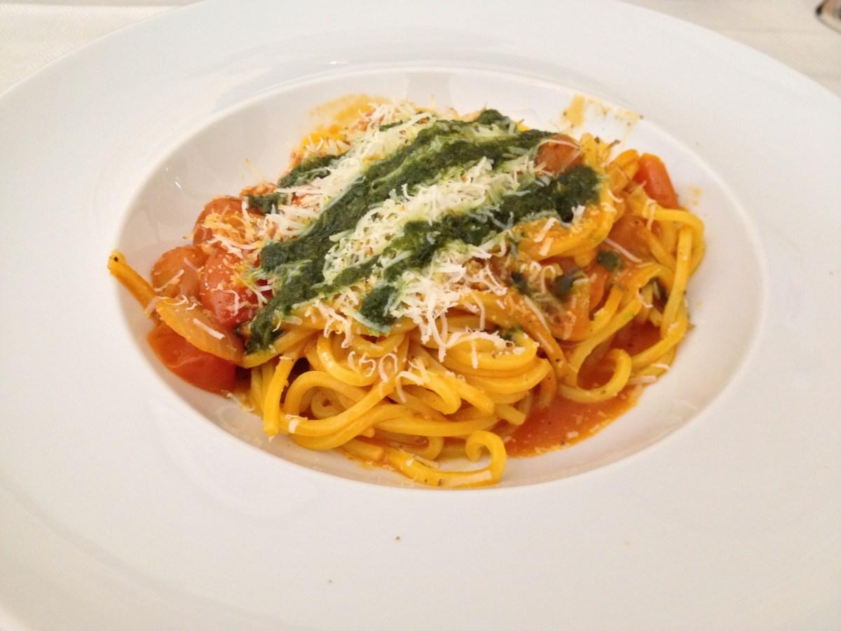 Homemade Spaghetti w/Cherry Tomatoes
