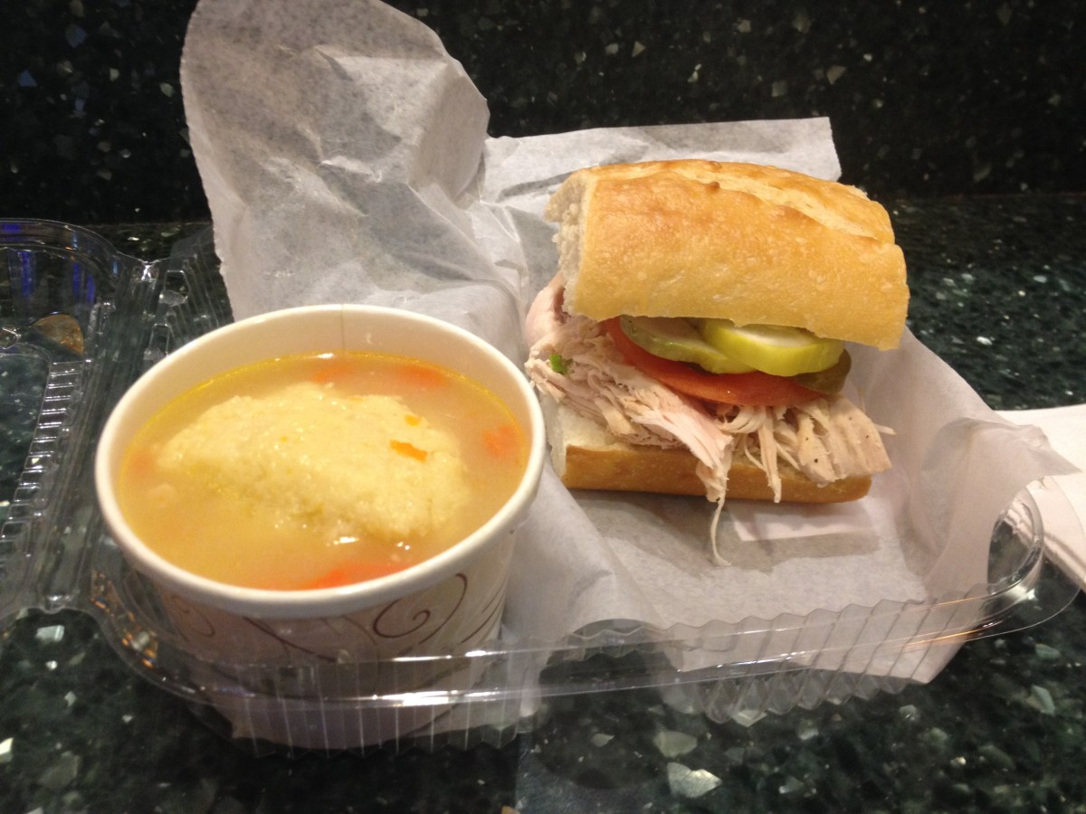 Matzah Ball Soup, Turkey Sandwich