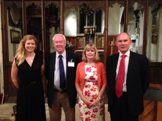 (L-R) Hatty Goody, Philip, Ruth Parr, David Bonser, Chawton Suite first performance, St Nicholas Church, September 2013