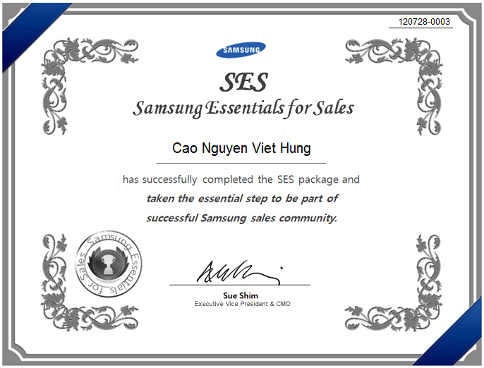 Samsung Essentials for Sales (SES)