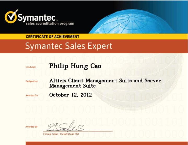Symantec Sales Expert (SSE) – Altiris Client Management Suite and Server Management Suite
