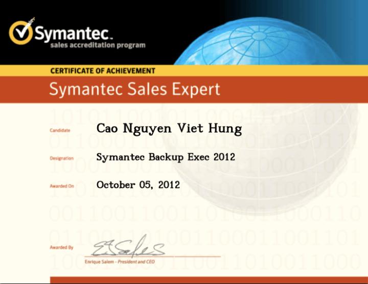 Symantec Sales Expert (SSE) – Symantec Backup Exec 2012
