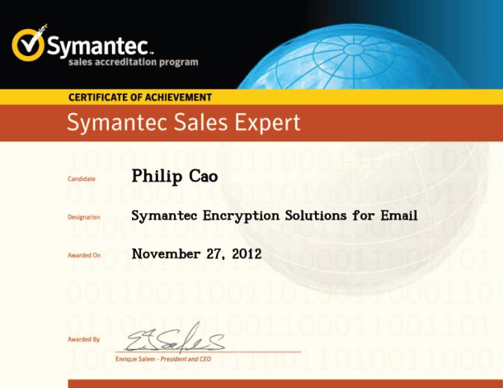 Symantec Sales Expert (SSE) – Symantec Encryption Solutions for Email