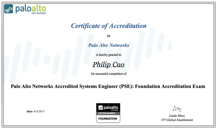 Palo Alto Networks Accredited Systems Engineer (PSE) – Foundation Accreditation