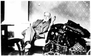 Freud by his analytic couch c.1932