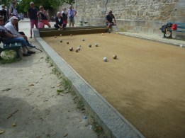 boules by the ramparts