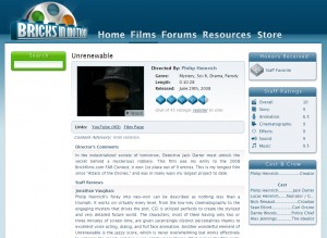Bricks in Motion - Film Directory