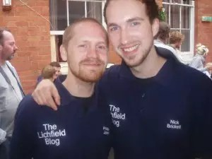 Nick and I showing off our TLB polo-shirts.