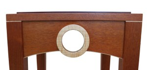 Mahogany table with maple ring