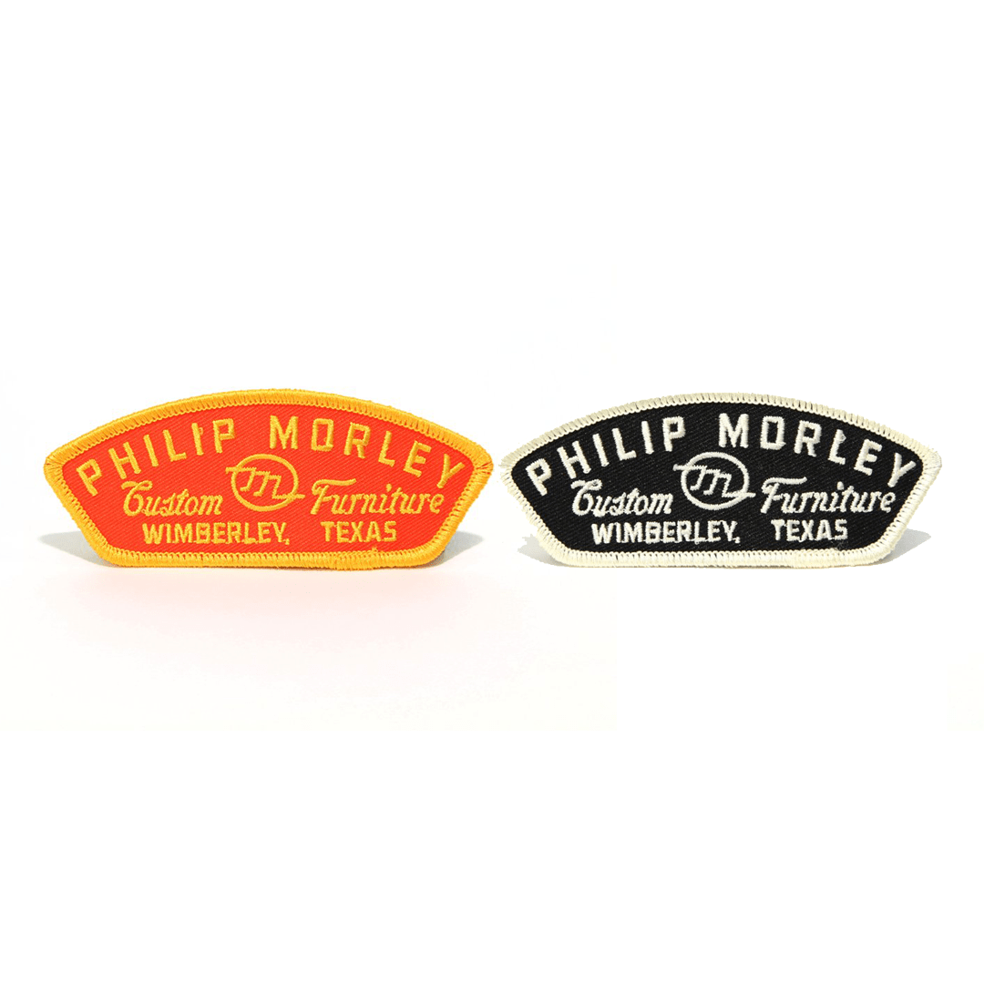 various logo patches by Philip Morley Furniture