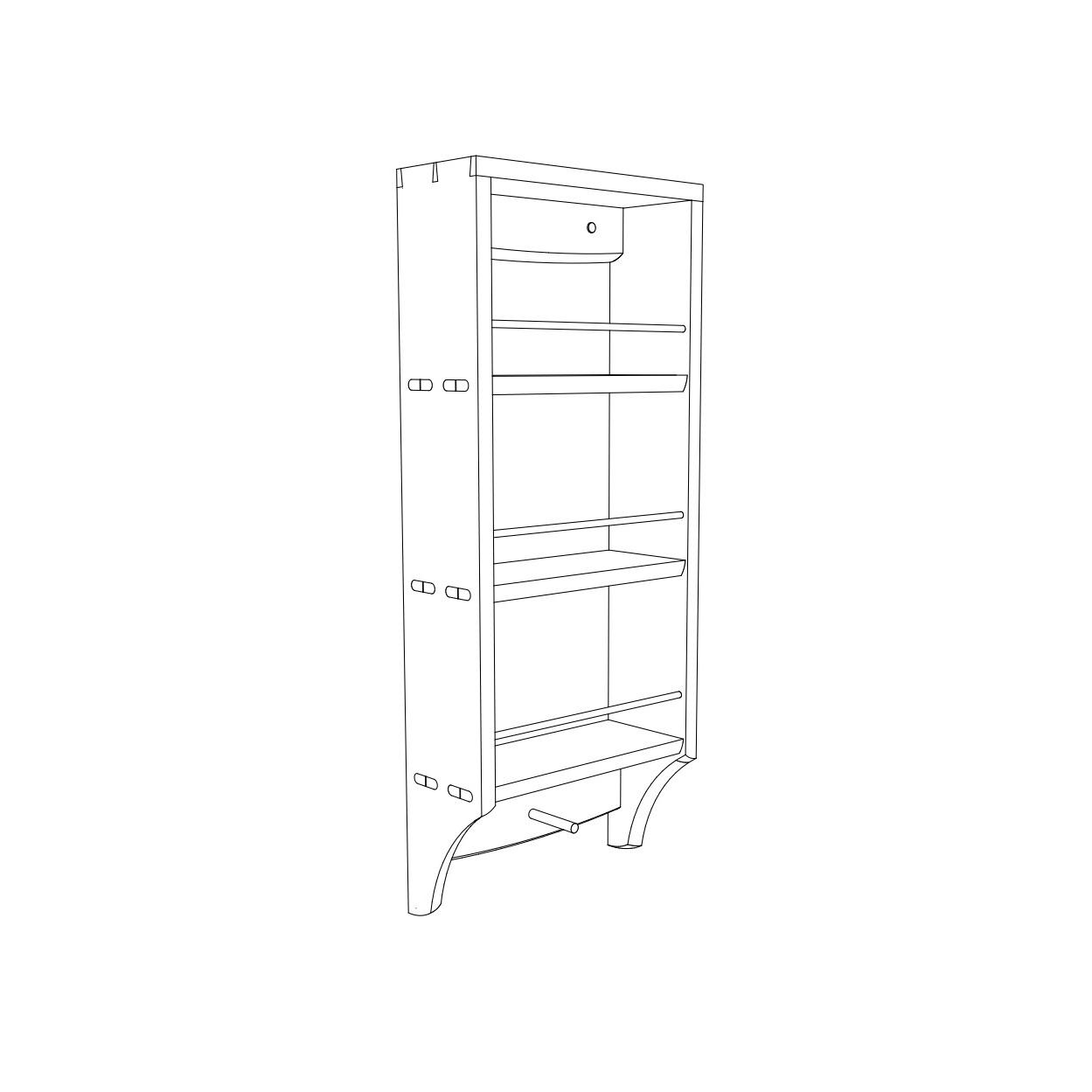 sketchup drawing of a tea rack