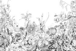 garden, pen and ink 2009