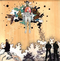 'heaven in the highest suspended by the pious' 11x11i, 2011, mixed media collage on wood