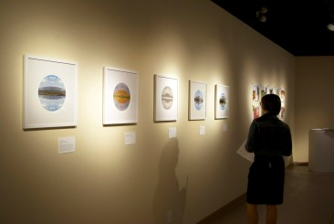 Nature Present, artworks featured: Peter Wilkins, Tablelands, Grosmorne, Green Point, Towards Tablelands, Western Brook Pond North 2008, digital prints on Hanemühle Satin Rag, 9 in diameter