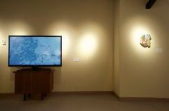 Nature Present, artworks featured: Marlene Creates, Sea Ice, Conception Bay, Newfoundland, March 2014, digital video,14:14 and Ingrid Mary Percy, Untitled (Paradise), Phaze Five series 2014, mixed media, 12 x 9 x 3 in