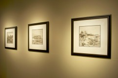 Nature Present, artworks featured: Gerald Squires, Ferryland Downs 2013, series of 6 pen and ink drawings, each 10 x 10 in