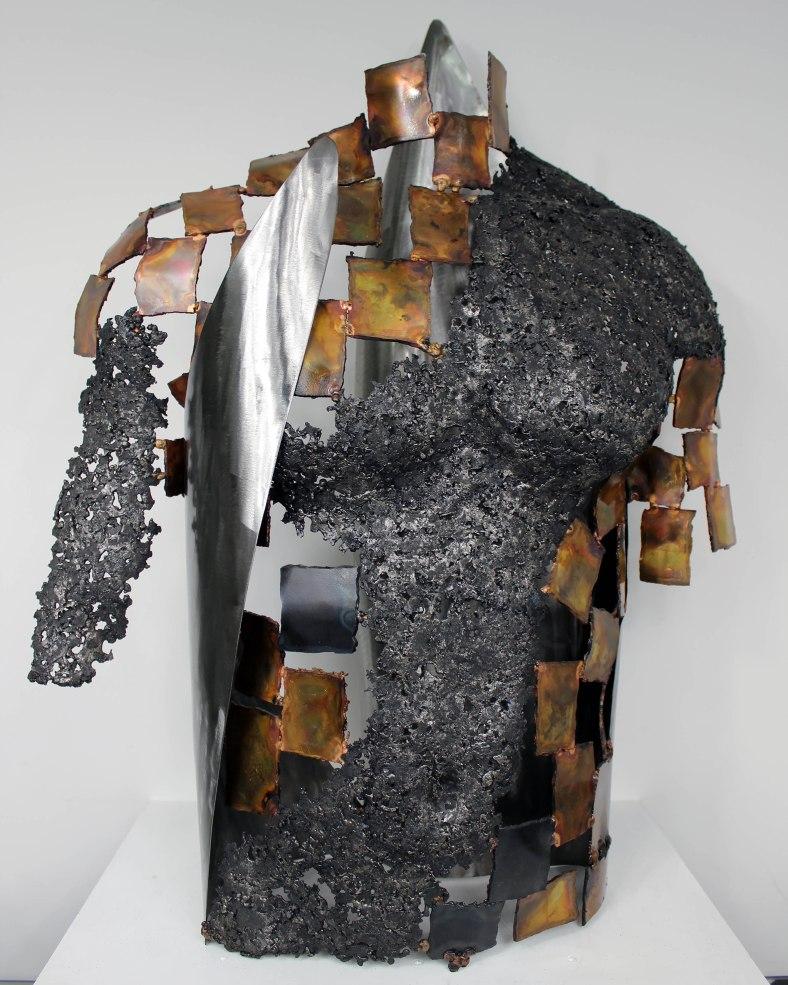 75-Kouros-Farrock-Sculpture Philippe Buil-Acier et Bronze