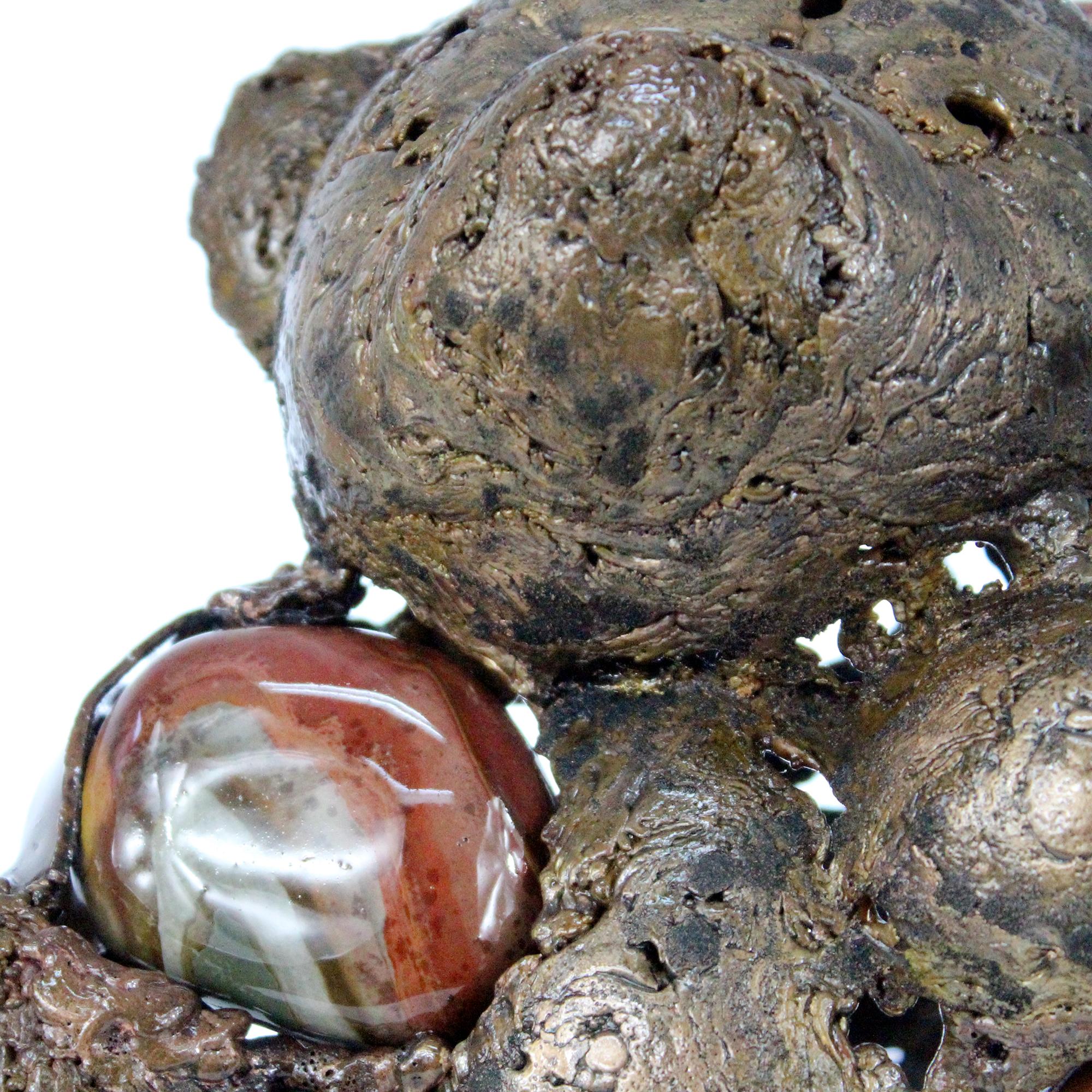 Buffon Ours Sans Sur Sculpture Bronze et Galets buffon bear and Pebbles philippe Buil