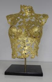 philippe buil sculpteur Belisama or 24 Carats La rose d'Assur 1