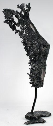 Sculpture de Philippe Buil en metal : dentelle d'acier et bronze Belisama Zen Hauteur 57 cm 3,9 Kg Piece unique