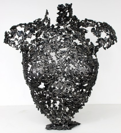 Sculpture de Philippe Buil en metal : dentelle d'acier Buste de Femme Belisama Mae Piece unique