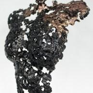 Sculpture représentant une silhouette de femme en métal : dentelle de Bronze, d'acier Pavarti Renaissance Pièce unique