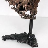 49 - Pavarti Duo - Sculpture Philippe Buil - Buste femme dentelle Bronze et Acier zoom 3