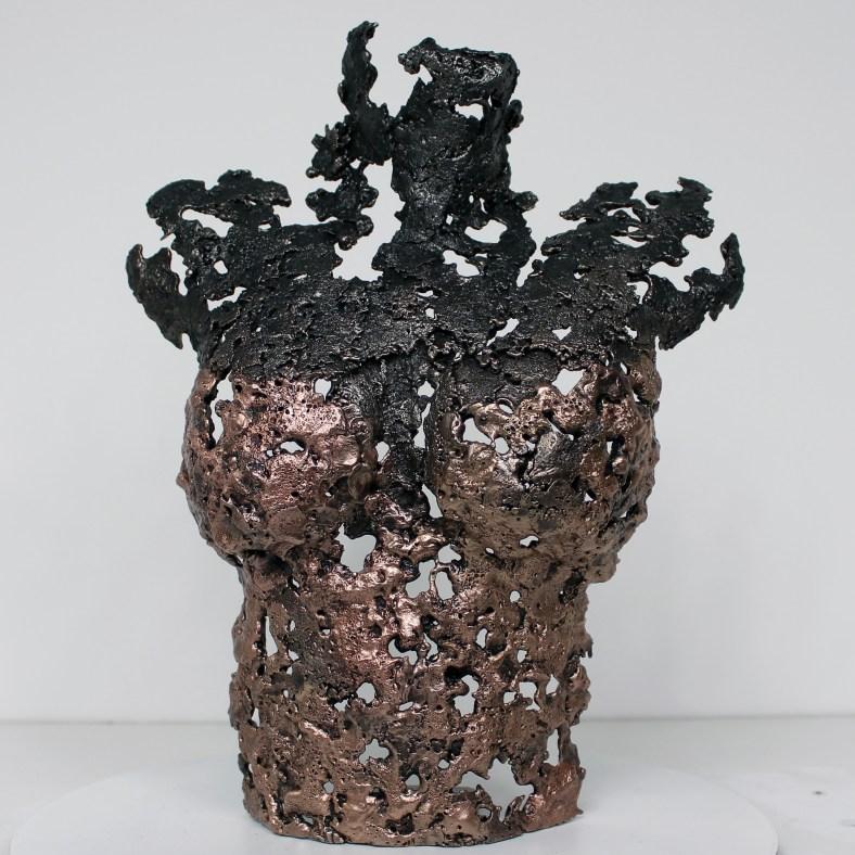 Pavarti Ondine - Sculpture Philippe Buil - Buste femme metal den