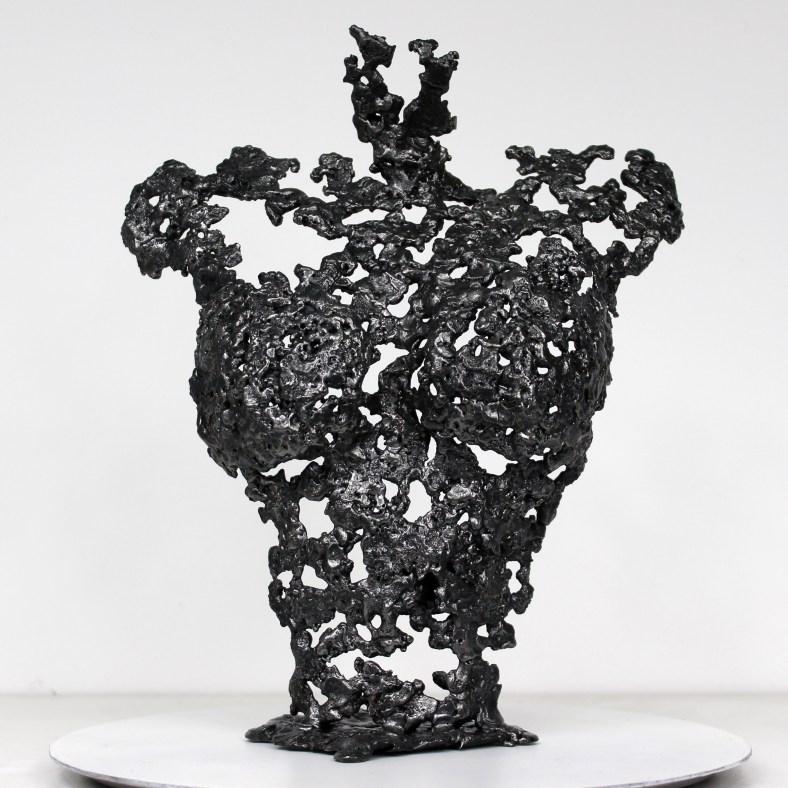 Pavarti Peach - Sculpture Philippe Buil - Corps de femme metal d