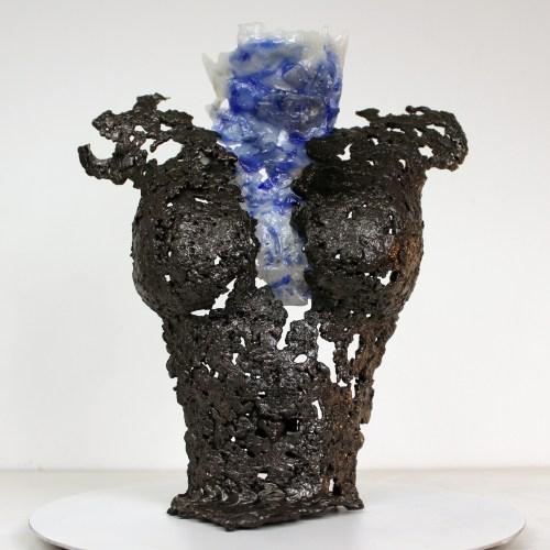 Pavarti Océan - Sculpture Philippe Buil - Corps de femme metal