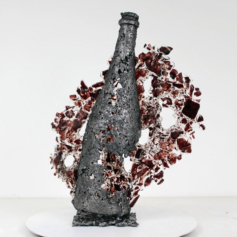 Boutielle Champagne pop art popart- Sculpture Philippe Buil - Me