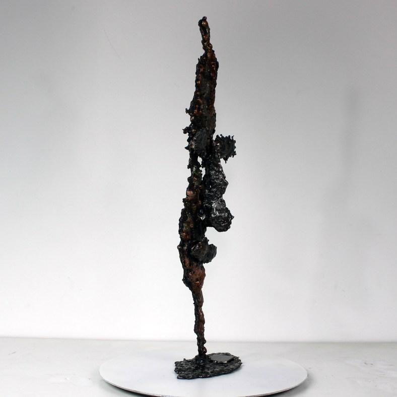 Acteur de l'ombre 4 - Sculpture Visage dentelle métal Acier Bronze