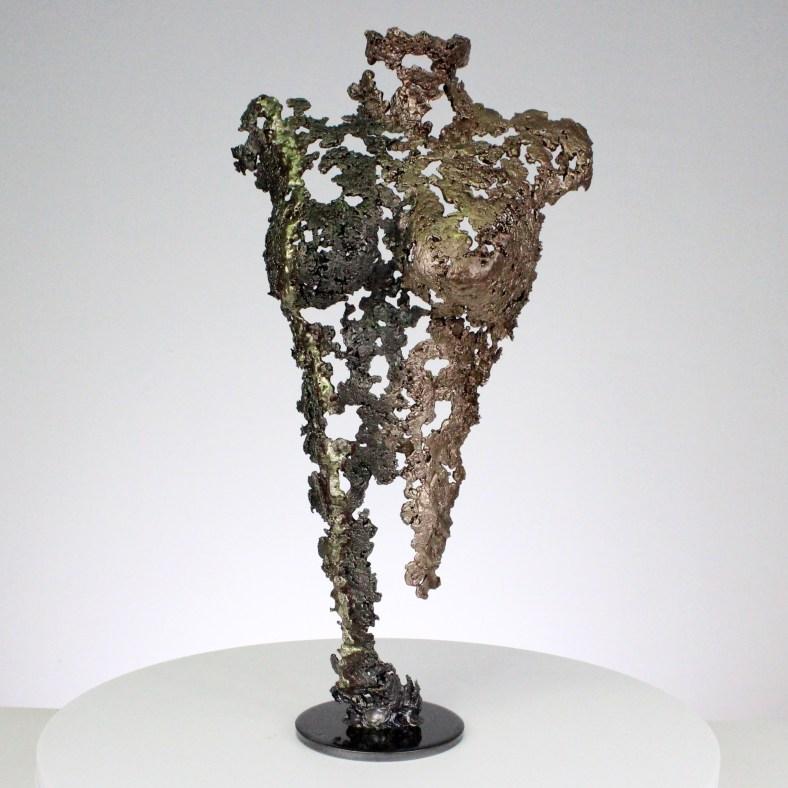 Pavarti IDEE - Sculpture corps femme métal dentelle acier bronze et Laiton - Body woman metal artwork - lace steel, bronze brass - Buil