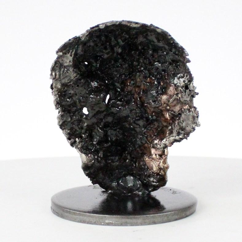 Crane Vanité - Sculpture tete de mort acier bronze - Vanite art - Skull artwork steel bronze - Buil