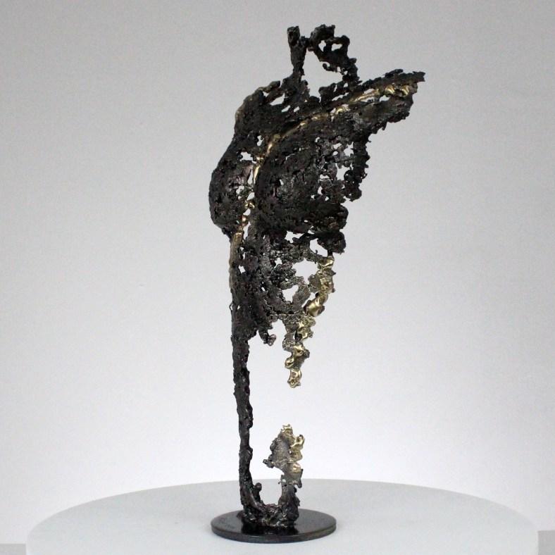Pavarti orage - Sculpture corps femme métal dentelle acier laiton - Body woman orage metal artwork - lace steel, brass - Buil