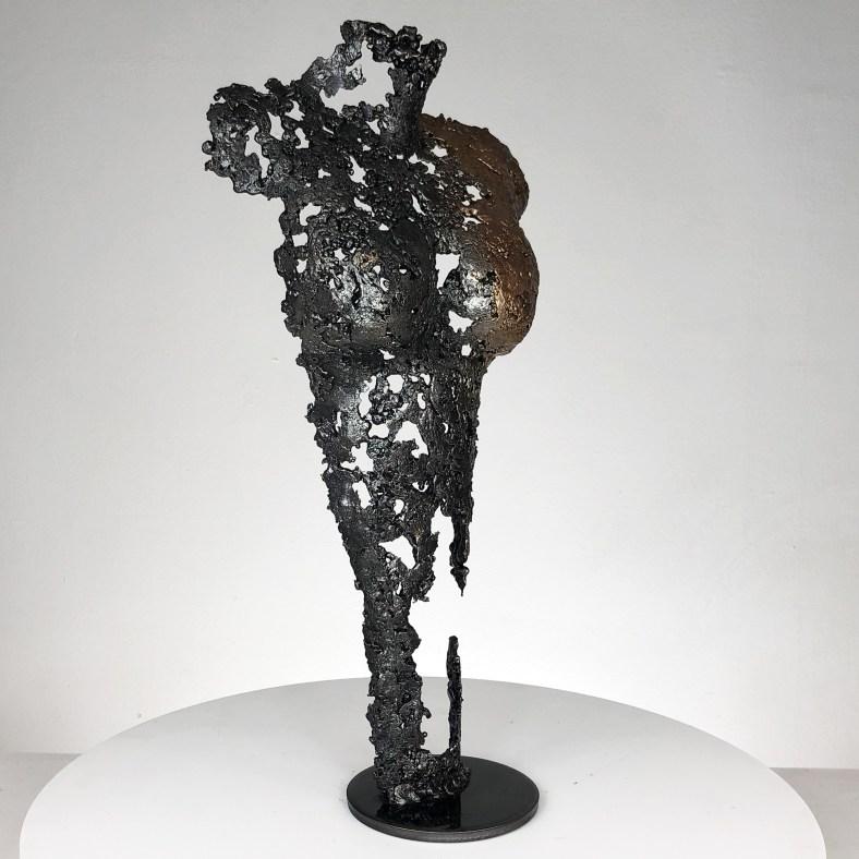Pavarti ondine - Sculpture corps danseuse femme métal dentelle acier bronze - Body woman metal artwork - lace steel bronze - Buil