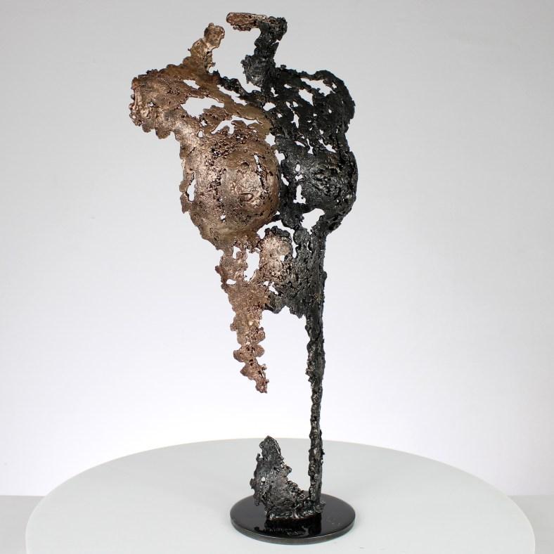 Pavarti classique - Sculpture corps danseuse femme métal dentelle acier bronze  - Body woman classic metal artwork - lace steel bronze - Buil
