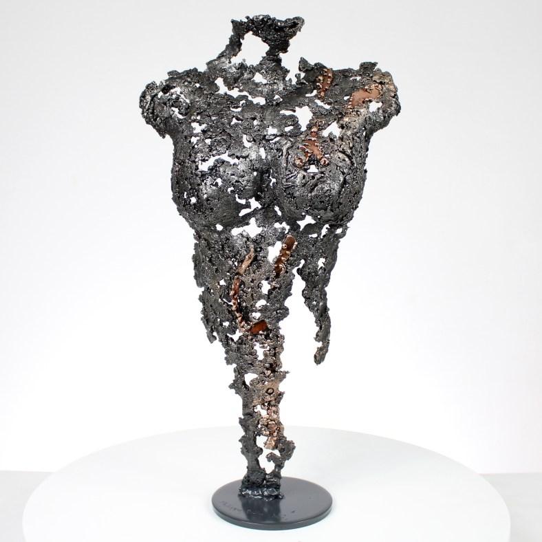 Pavarti Enseigne - Sculpture corps danseuse femme métal dentelle acier bronze - Body woman sign metal artwork - lace steel bronze - Buil